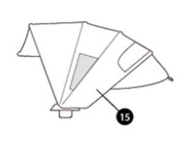 Sonnenverdeck black raven für Maxi Cosi Mura Plus 4 und Mura Plus 3