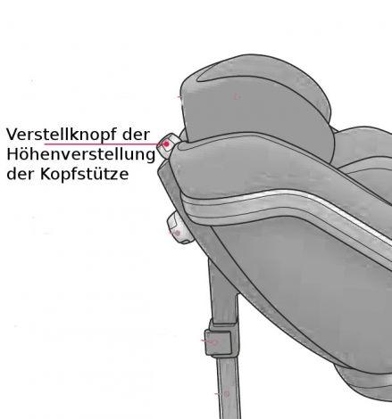 Verstellknopf Kopfstütze des Concord Reverso/Reverso Plus