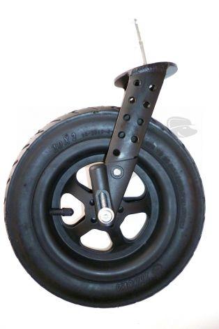 TFK Joggster X - Vorderradgabel + Rad - Twist silber