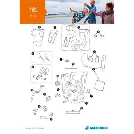 Axiss Aufkleber Installationshinweise re. & li. Gurtverstellung