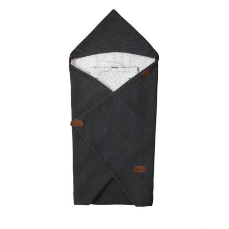 Voksi Baby Wrap Einschlagdecke in Dark grey