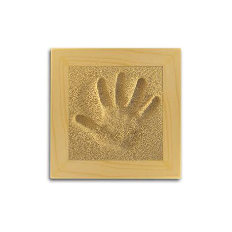 Sand Memories Handabdruck mit Holzrahmen 'Natursand'