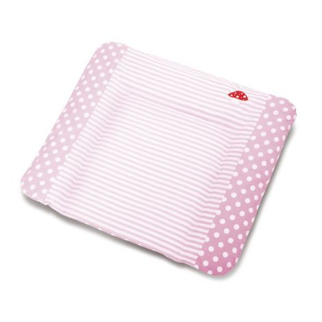 Pinolino Bezug für Wickelauflagen, 'Glückspilz', rosa