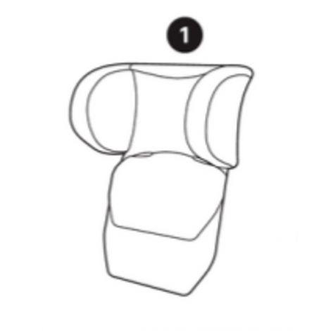 Ersatzbezug Kopfstütze (schwarz) für Axiss
