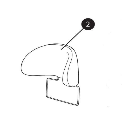 Pearl / 2WayPearl Kopfstützenbezug Black