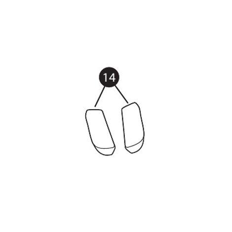 Gurtpolster schwarz für Quinny Zapp Xtra