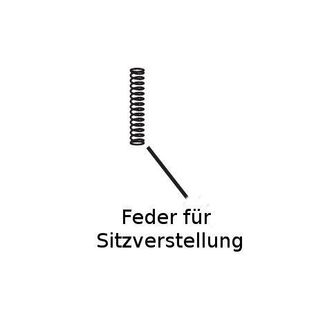 Feder für Sitzverstellung Priori SPS, SPS+, XP