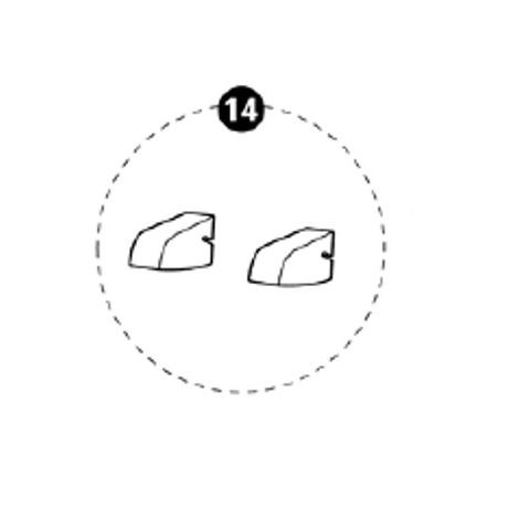 Styroporteile Sitzfläche (2 Stück) für Tobi
