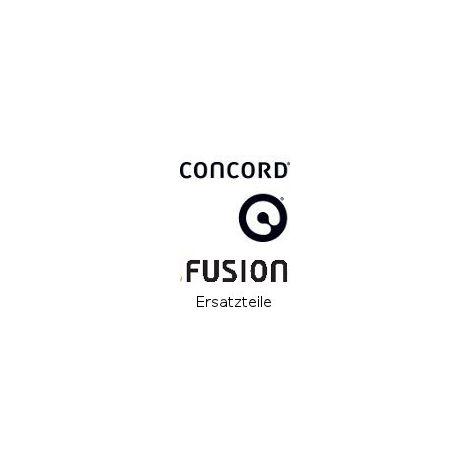 Concord Fusion Vorderrad drei Speichen schwarz