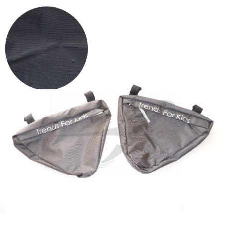 TFK Joggster/Twinner - Seitentaschen in schwarz
