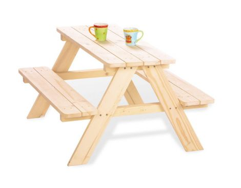 Pinolino Kindersitzgarnitur 'Nicki für 4', natur