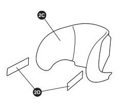 Rodi XP Styroporteil Kopfstütze