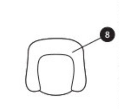 Sitzverkleinerer (schwarz) für Maxi-Cosi Milofix