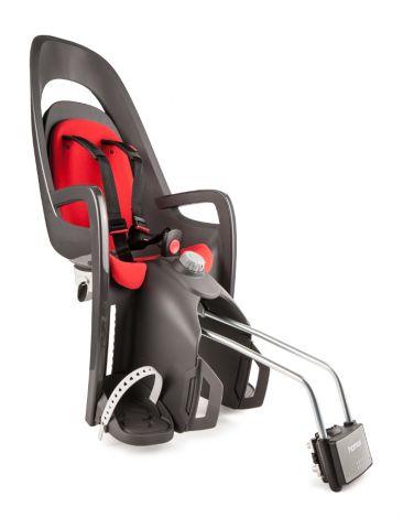 Hamax Caress Grau/Rot mit abschließbarer Rahmenhalterung