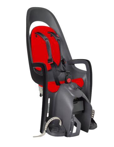 Hamax Caress Grau/Rot mit Adapter für Gepäckträger