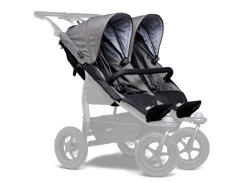 TFK Duo Sportkinderwagensitz-Einhänge (2 Stk) in premium grau