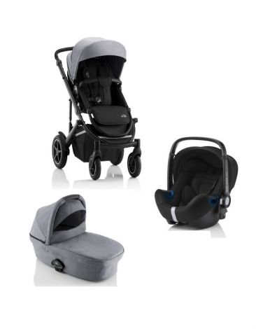 Britax Römer SMILE III – COMFORT SET in Frost Grey, Black Handle