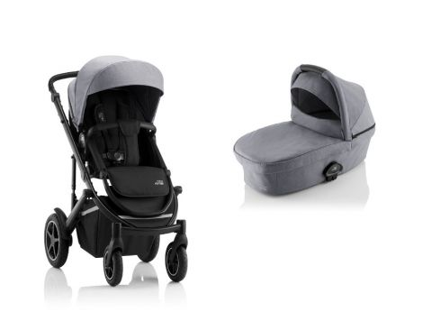 Britax Römer SMILE III – ESSENTIAL SET in Frost Grey, Black Handle