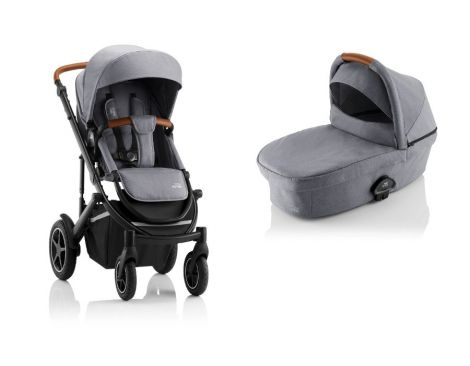 Britax Römer SMILE III – ESSENTIAL SET in Frost Grey, Brown Handle